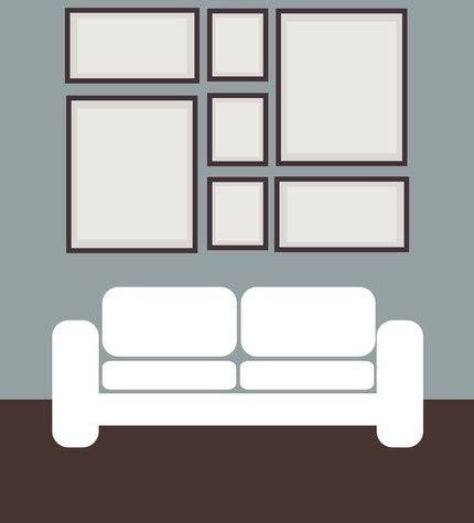 Коллаж фото на стене идеи